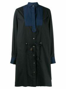 Sacai loose-fit shirt dress - Black