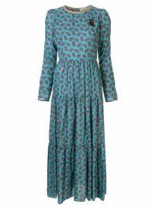 Tu es mon TRÉSOR printed maxi dress - Blue