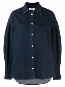 MSGM oversized denim shirt - Blue