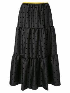 Tu es mon TRÉSOR polka dot skirt - Black