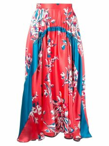 Roksanda Zelma printed midi skirt - PINK