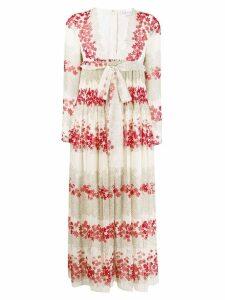 Red Valentino Dreaming Peony-print muslin dress - Neutrals