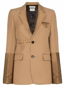 Bottega Veneta single-breasted panelled blazer - Brown
