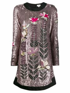 Temperley London magnolia sequin shift-dress - PINK