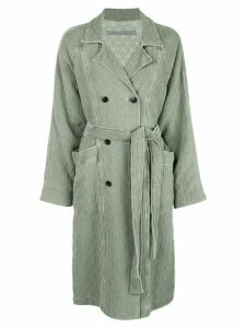 Raquel Allegra double-breasted trench coat - Green