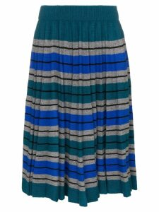 Plan C pleated stripe skirt - Multicolour