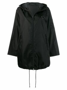 Prada technical waterproof parka - Black