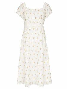 Reformation Annuka floral off-the-shoulder dress - Neutrals