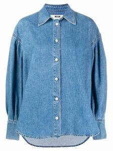 MSGM denim shirt - Blue