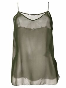 Dorothee Schumacher sheer silk tank top - Green