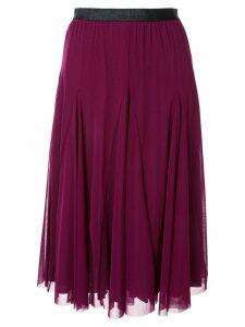 Tu es mon TRÉSOR mesh parasol skirt - Purple