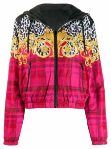 Versace Jeans Couture Leo Baroque zipped hoodie - Black