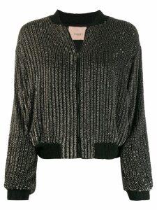 Twin-Set embellished bomber jacket - Black