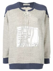 Tu es mon TRÉSOR TV sweatshirt - Grey