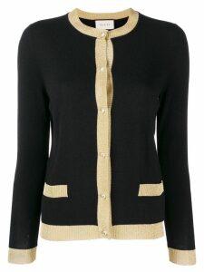 Gucci glittery trim cardigan - Black