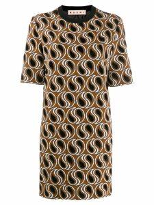 Marni jacquard knit dress - Brown