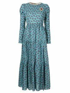 Tu es mon TRÉSOR ribbed printed dress - Blue