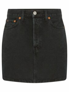 Re/Done denim mini-skirt - Black