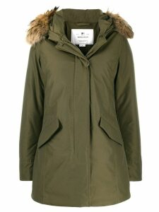 Woolrich padded hooded coat - Green