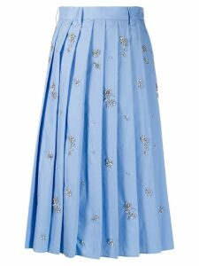 Prada embellished pleated skirt - Blue