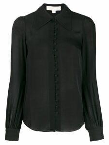 Michael Michael Kors classic-collar silk shirt - Black