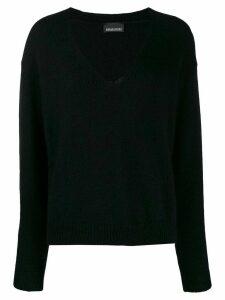 Ermanno Ermanno oversized v-neck jumper - Black