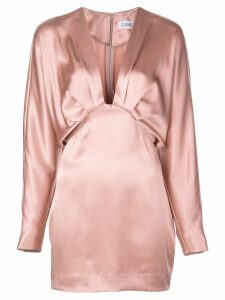 Cushnie pleated V dress - Pink