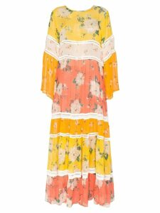 We Are Leone floral print maxi dress - Yellow