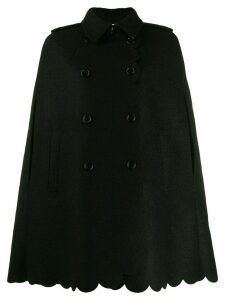 Red Valentino scalloped edge cape - Black