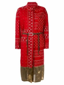 Kolor wrap-style printed dress - Red