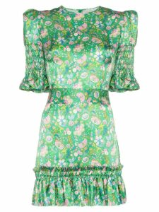 The Vampire's Wife Whole Lotta Trouble floral print dress - Green