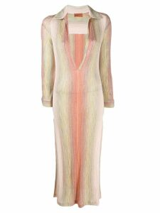 Missoni Mare deep V-neck dress - Pink
