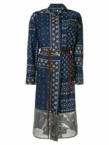 Kolor printed wrap-style dress - Blue
