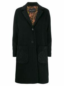 Etro paisley print coat - Black