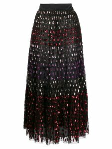 Temperley London Rainbow sequin midi skirt - Black