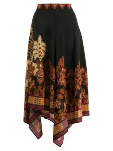 Etro asymmetric print skirt - Black