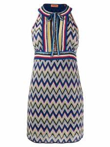 Missoni zigzag-knit mini dress - Blue