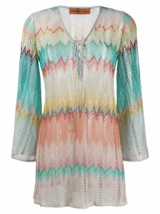 Missoni Mare embroidered shift blouse - Blue