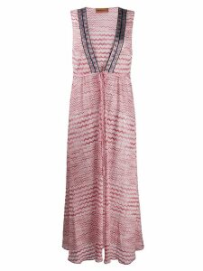 Missoni Mare sleeveless maxi dress - Pink