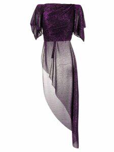 Talbot Runhof Tabita top - Purple