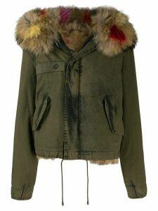 Mr & Mrs Italy fur hood trim jacket - Green