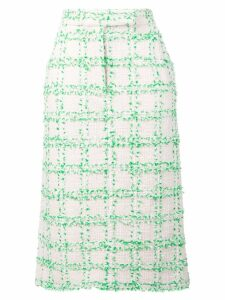 Thom Browne Overcheck Tweed Sack Skirt - White
