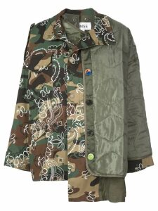 Monse panelled oversized-fit jacket - Green