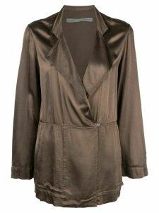 Raquel Allegra oversized wrap jacket - Green
