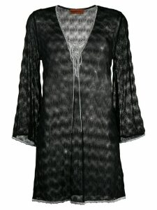 Missoni Mare embroidered flared blouse - Black