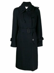 Sacai double collar coat - Blue