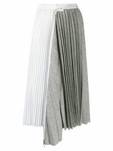 Sacai patchwork pleated skirt - Grey