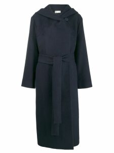 The Row belted hooded coat - Blue
