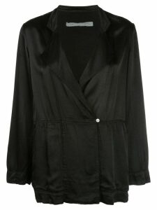 Raquel Allegra oversized wrap jacket - Black
