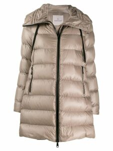 Moncler hooded padded coat - Neutrals